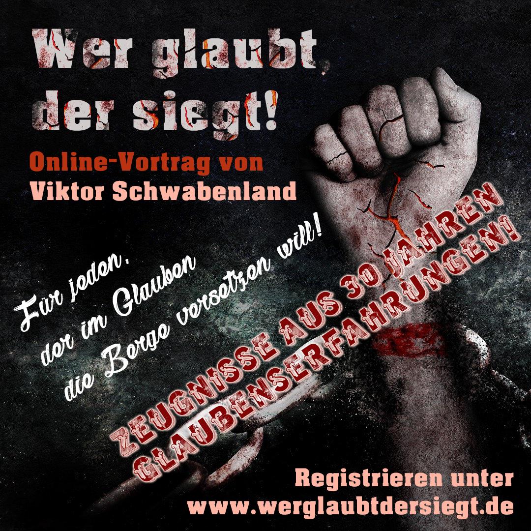 """""""Wer glaubt, der siegt!"""" – Online-Vortrag"""